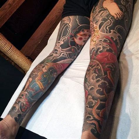 japanese leg tattoos for men japanese tattoos for designs ideas and meaning