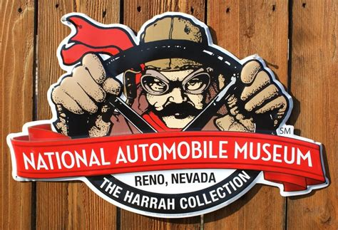 national automobile museum large tin sign nevada race car