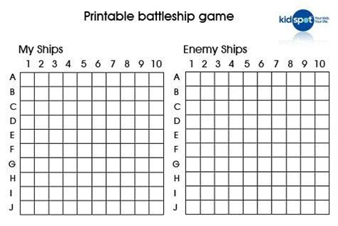 Battleship Prinatbles How To Make Your Own Battleship Battleship Template