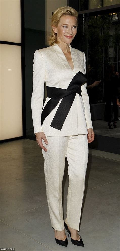 And Cate Blanchett At The Armani Fashion Show by Cate Blanchett Wears Karate Inspired Suit At Armani 40th