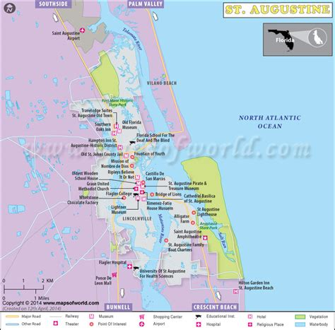 map of florida earth map of st augustine fl world map 07