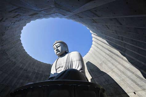 Stone Design by Tadao Ando Embeds Open Air Prayer Hall Around Massive 15