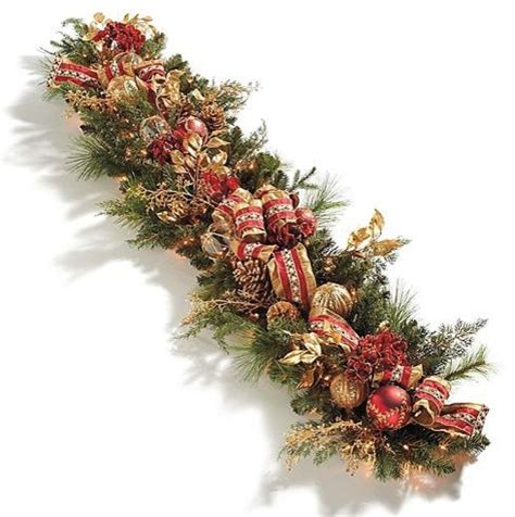 christmas decoration garland santa claus and christmas