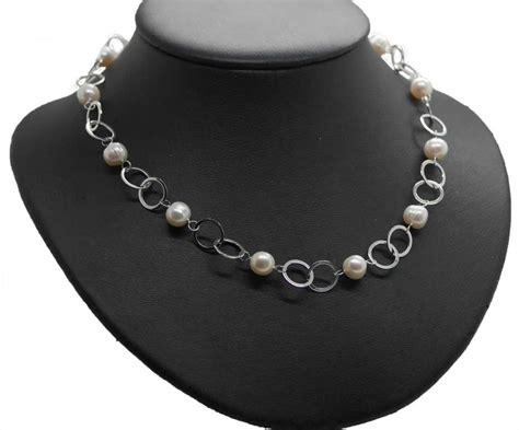 Silberschmuck Hochzeit by Silberschmuck Zur Hochzeit Brautkette Perlen