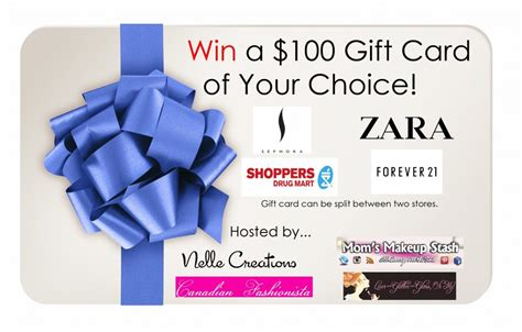 Win Zara Gift Card - win 100 gift card to sephora forever 21 zara or shoppers drug martcanadian fashionista