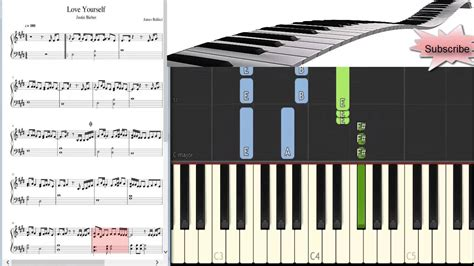 tutorial keyboard love yourself how to play justin bieber love yourself piano