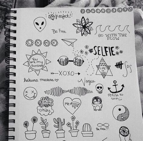 doodle imagine draw notebook 107 best images about grunge drawings on
