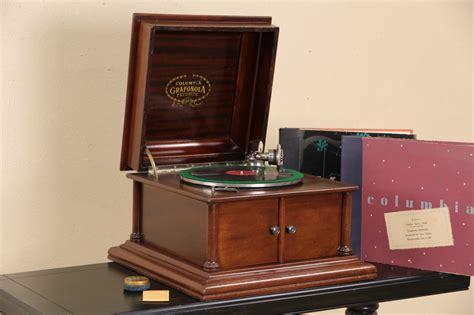 SOLD   Columbia Grafonola Record Player Antique 1910