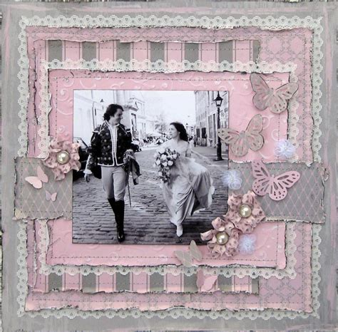 Scrapbook Layout Ideas Wedding | scrapbook wedding double page layouts couple of love