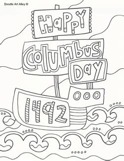 columbus day pictures coloring free printables