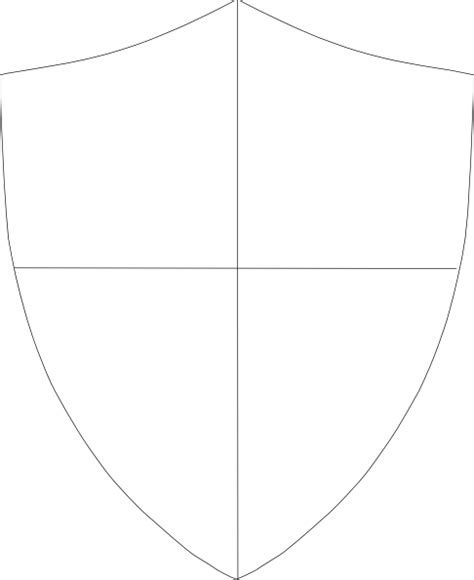 blank shield template printable shield template 288 clip at clker vector clip