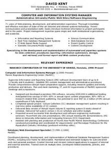 Computer Systems Manager Sle Resume by Information Systems Images Femalecelebrity