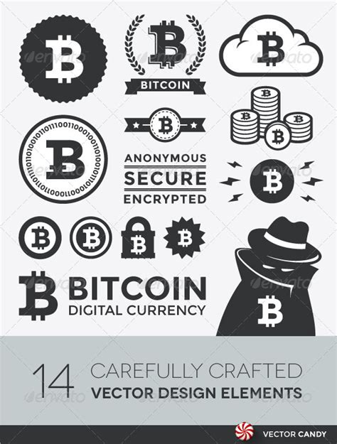 Online Shopping For Home Decorative Items by Vector Bitcoin Design Elements And Labels Graphicriver