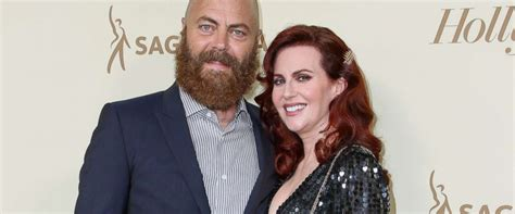 nick offerman the bachelor nick offerman and megan mullally share their 15 year love