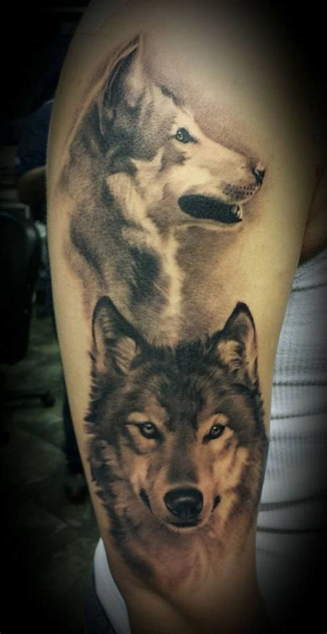 two wolves tattoo 25 best ideas about two wolves on