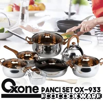1 Set Oxone Eco Cookware qoo10 cookware set peralatan dapur