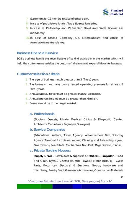 standard chartered bank statement analyzing customer satisfaction level at standard