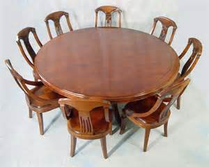 Making A Round Wood Table Top by 72 Quot Round Mahogany Dining Table And Chair Set Ebay