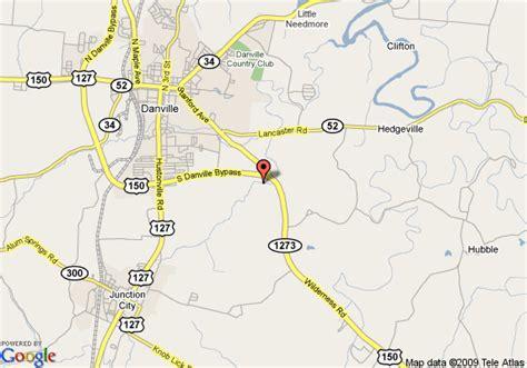 ky map danville map of inn express danville danville