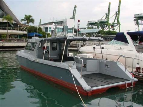work boats for sale singapore commercial fiberglass work boat multipurpose mpa licensed