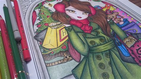 libro a whimsy girls christmas coloring a whimsy girls christmas coloring book by hannah lynn youtube