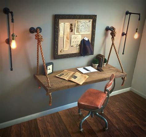 Diy Hanging Desk Best 25 Industrial Pipe Ideas On Pinterest Industrial Shelves Shelves With Pipes Diy And