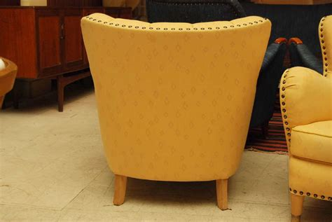 Yellow Club Chair by Pair Of Yellow Club Chairs At 1stdibs