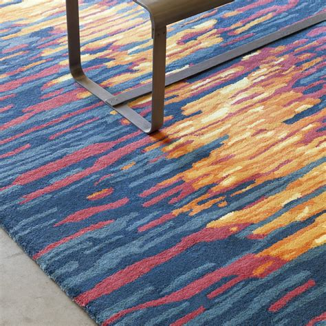 Area Rugs In Blue Stella Collection Tufted Area Rug In Blue Orange Design B Burke Decor