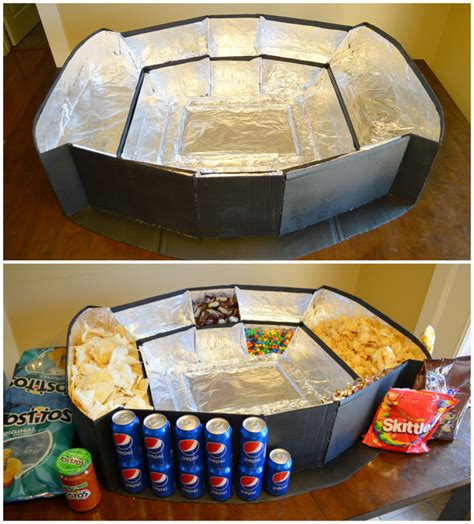 How To Make A Stadium Out Of Paper - how to build the ultimate snack stadium