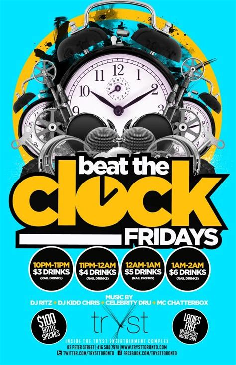 beat  clock fridays  tryst toronto