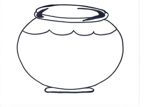 printable fish bowl template clipart best