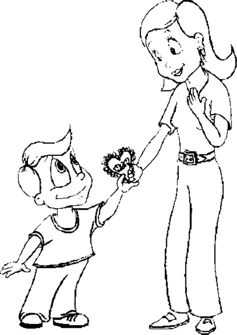 mother s day 2 coloring page