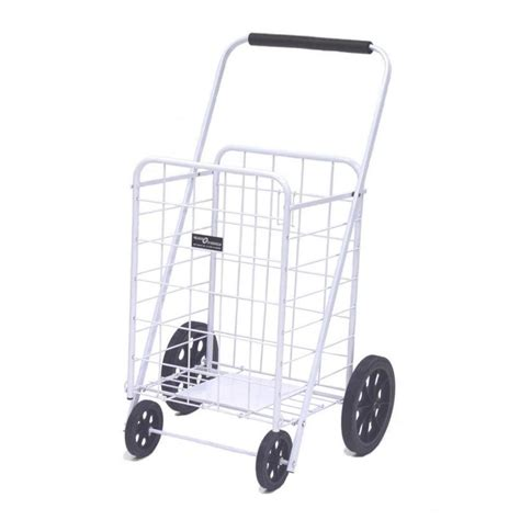 easy wheels shopping cart in white 002 r wh the