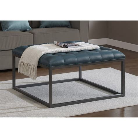 teal tufted ottoman 1000 ideas about tufted leather ottoman on pinterest