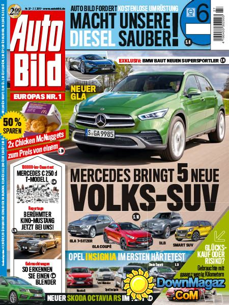 Auto Bild 27 by Auto Bild N27 7 07 2017 187 Pdf Magazines