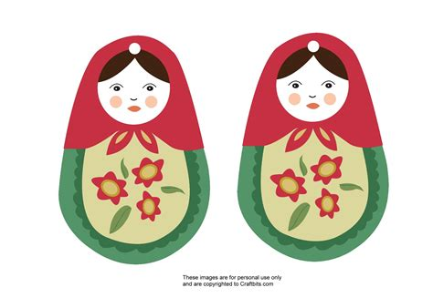 matryoshka russian doll ornament group crafts