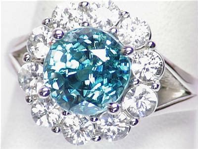Amazing Blue Topaz Tp 595 14k gold 6 8ct blue zircon white topaz split shank