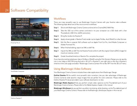 Blackmagic Design Cinema Camera User Manual