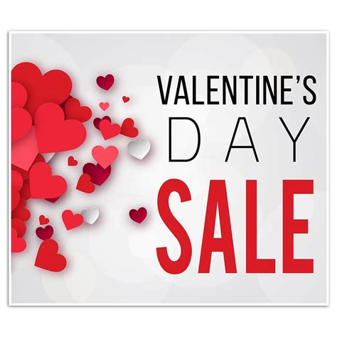 valentines sales valentine s day sale business window retail sale sign