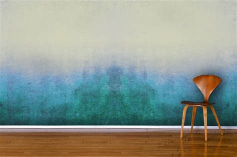 wall paint that doesn t get dirty blue grunge wall mural murals trends and paint