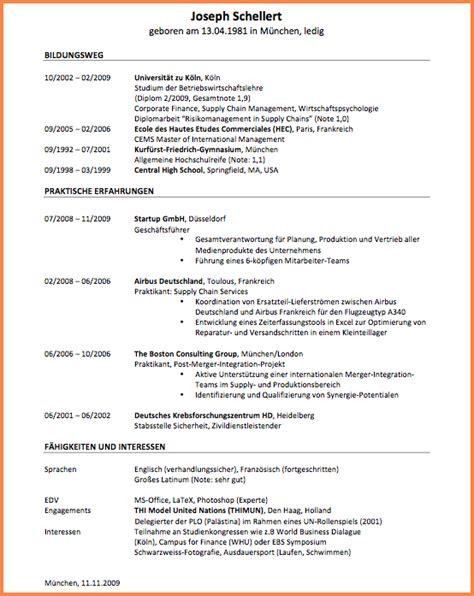Xing Lebenslauf Auf Englisch Lebenslauf Auf Englisch Schreiben