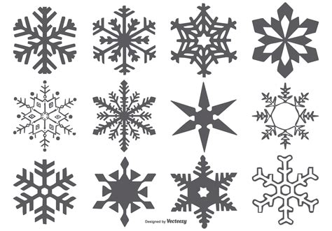 vector snowflake shapes free vector stock