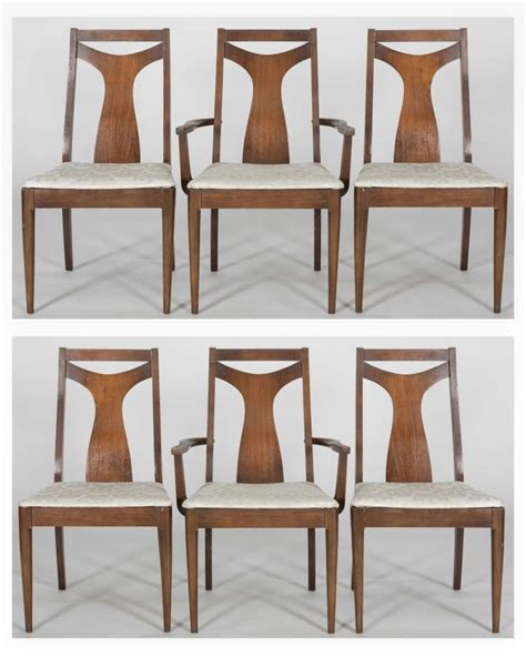 set six broyhill brasilia dining room chairs