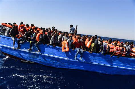 refugee migrant rescue boat migrant crisis a rescue on the mediterranean sea time