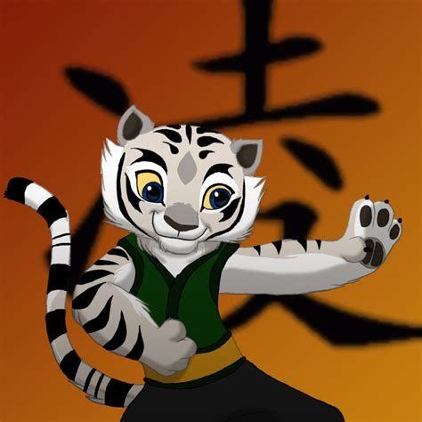 Kaos 3d Kungfu Panda White kung fu panda white tiger