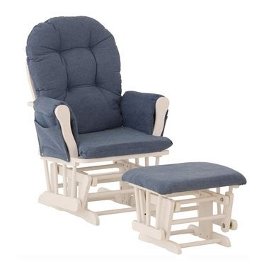 stork craft hoop glider and ottoman set espresso beige storkcraft white hoop glider and ottoman with denim fabric