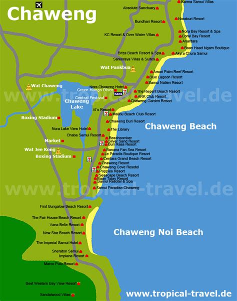 chaweng regent resort hotel map koh samui thailand getting there hotel booking