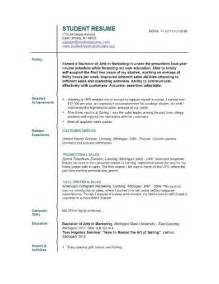 Resume Templates College Application by 10 College Student Resume Template No Experience Free