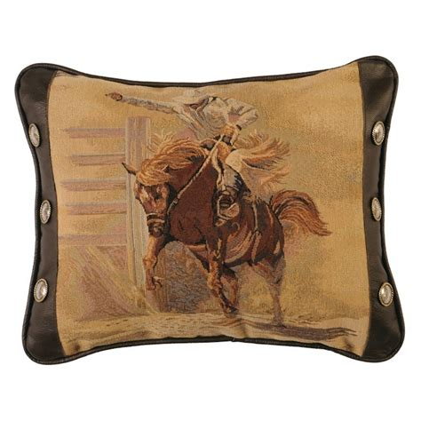 Bronco Pillow by Bronco Rider Accent Pillow