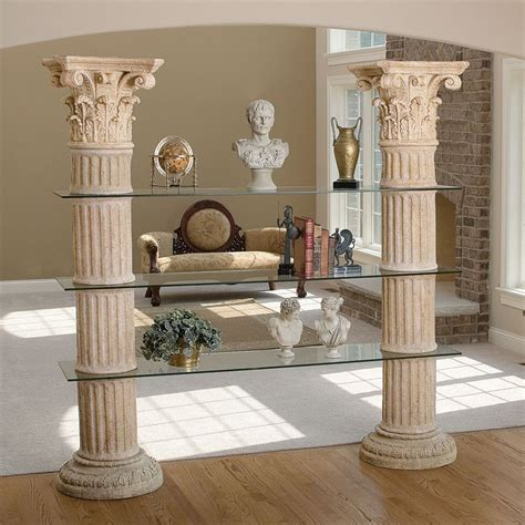 toscano home decor design toscano ne68471 columns of corinth shelves atg stores